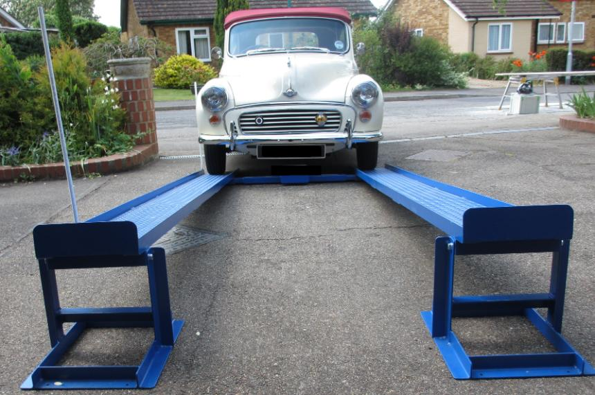 Car lift ramps the simple unique patented mr1s for diy Car lift plans