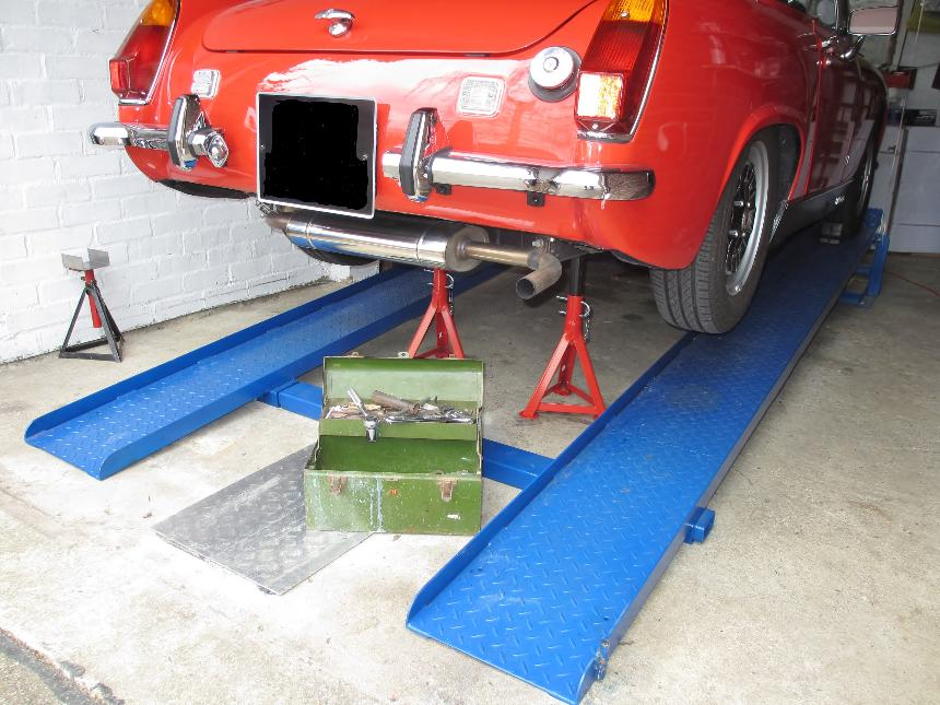 Diy Car Ramps : Car lift ramps the simple unique patented mr s for diy